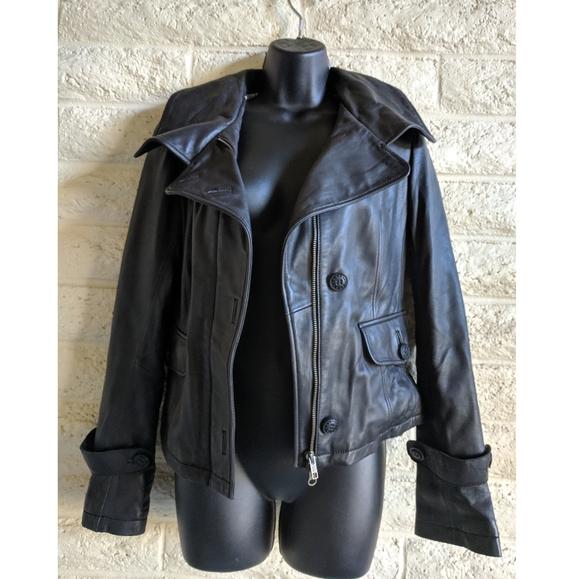 Mackage Jackets & Blazers - Mackage | leather button & zip black jacket EUC